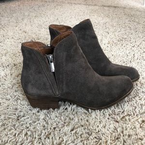 Lucky Brand Brenon brown suede bootie